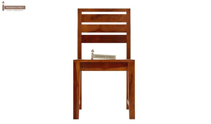 Zampa Dining Chair without Fabric (Honey Finish)-2