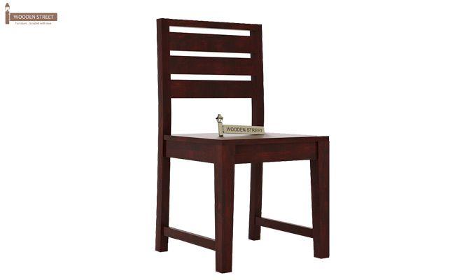 Zampa Dining Chair without Fabric (Mahogany Finish)-2