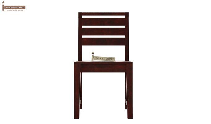 Zampa Dining Chair without Fabric (Mahogany Finish)-3