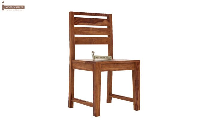 Zampa Dining Chair without Fabric (Teak Finish)-1