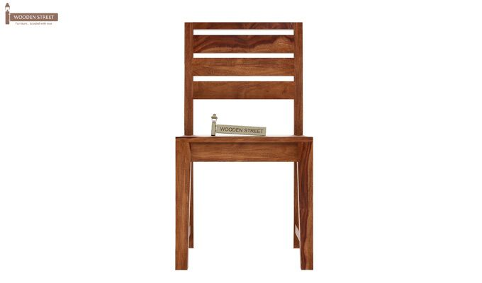 Zampa Dining Chair without Fabric (Teak Finish)-2