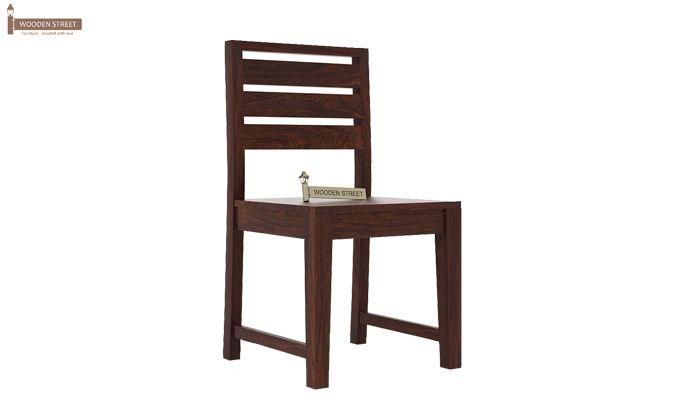 Zampa Dining Chair without Fabric (Walnut Finish)-1