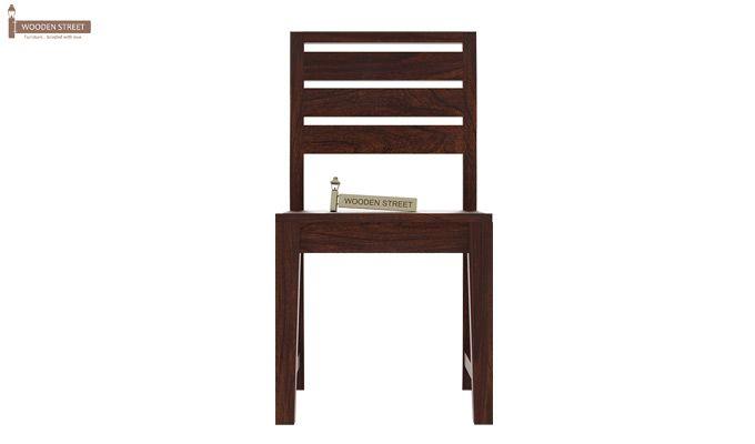 Zampa Dining Chair without Fabric (Walnut Finish)-2