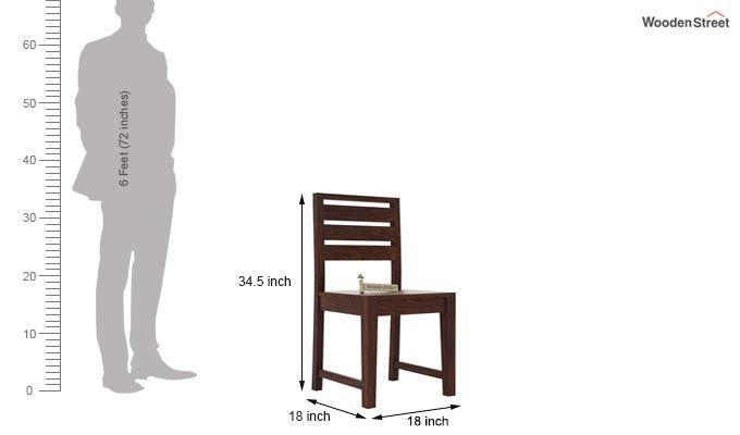 Zampa Dining Chair without Fabric (Walnut Finish)-3