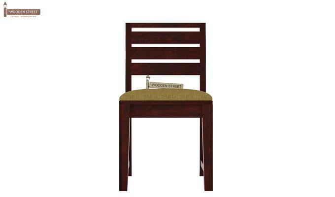 Zampa Dining Chair With Fabric (Mahogany Finish)-2