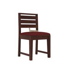 Zampa Dining Chair With Fabric (Walnut Finish)