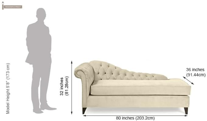 Begonia Chaise Lounge (Cream)-2