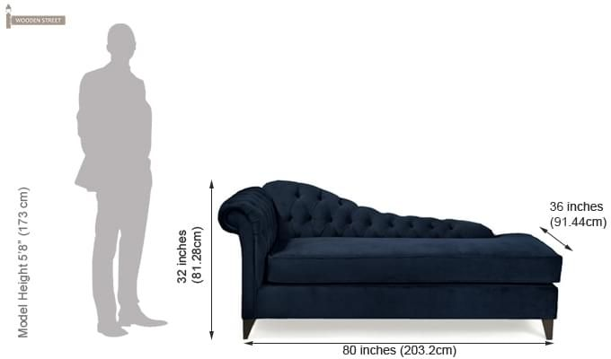 Begonia Chaise Lounge (Midnight Blue)-2