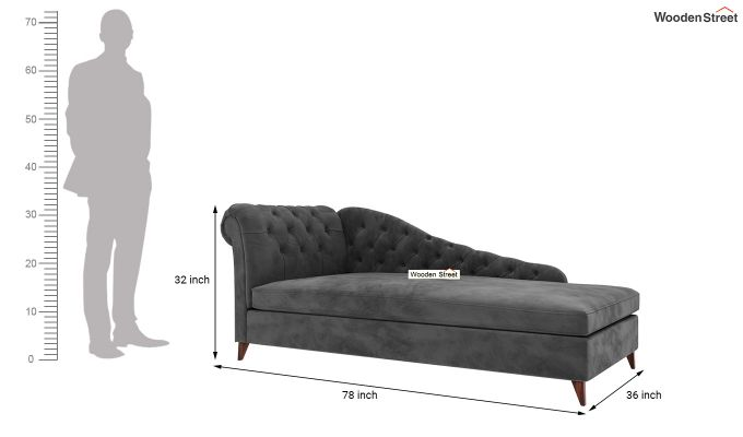 Begonia Chaise Lounge (Graphite Grey)-5