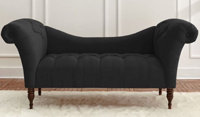 Bella Chaise Lounge (Black)-1