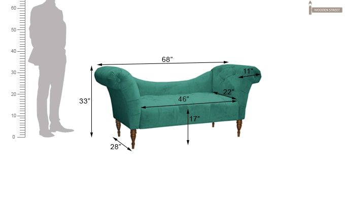 Bella Chaise Lounge (Green)-3