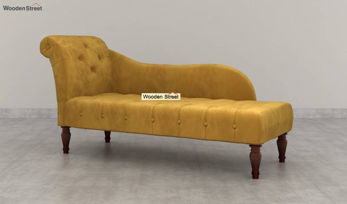 Crocus Chaise Lounge (Olive Gold)-4