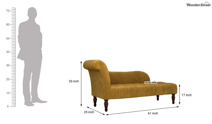 Crocus Chaise Lounge (Chestnut Brown)-5