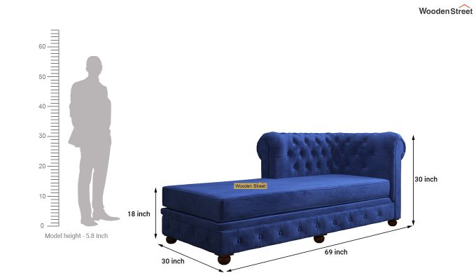 Henry Chaise Lounge (Indigo Blue)-5