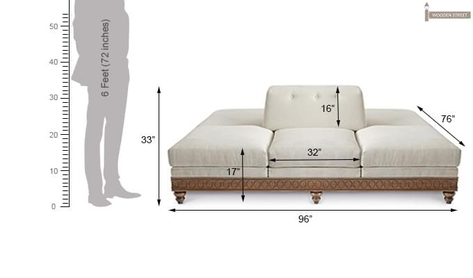 Tamiroff Chaise Lounge (Cream)-2