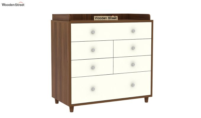 Gavin Chest of Drawer with Frosty White Drawer (Exotic Teak Finish)-3
