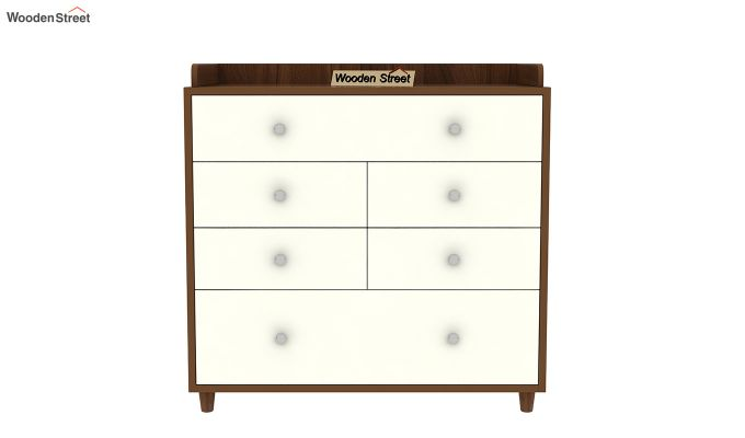 Gavin Chest of Drawer with Frosty White Drawer (Exotic Teak Finish)-4
