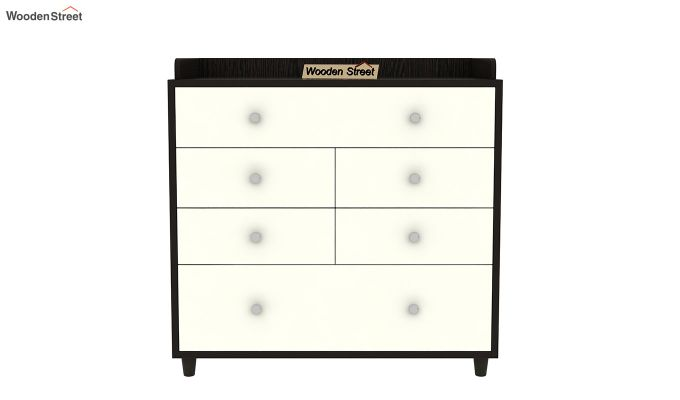 Gavin Chest of Drawer with Frosty White Drawer (Flowery Wenge Finish)-4