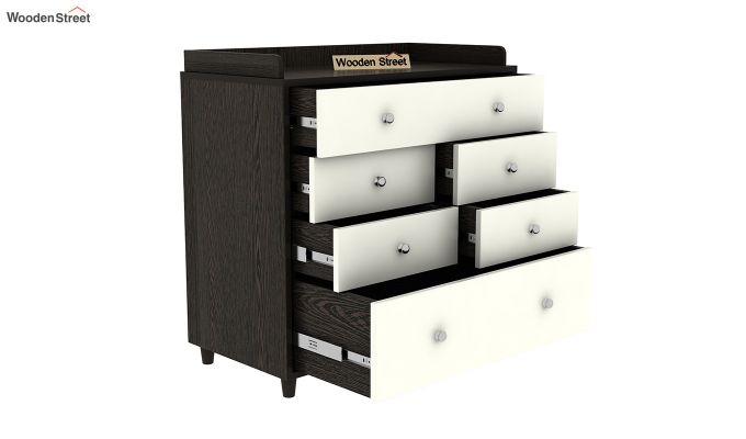 Gavin Chest of Drawer with Frosty White Drawer (Flowery Wenge Finish)-5