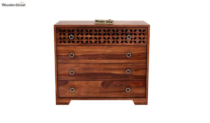 Alexus Chest of Drawers (Honey Finish)-3