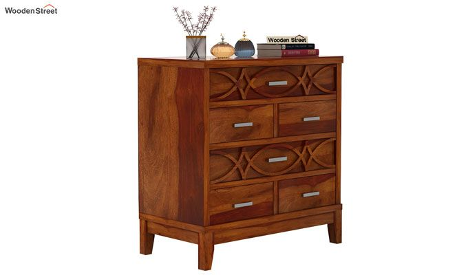 Allan Chest of Drawers (Honey Finish)-2