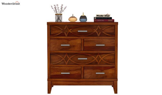Allan Chest of Drawers (Honey Finish)-3