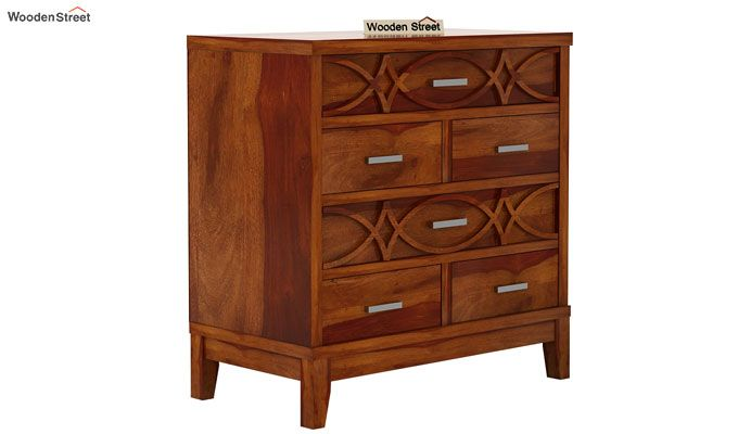 Allan Chest of Drawers (Honey Finish)-4