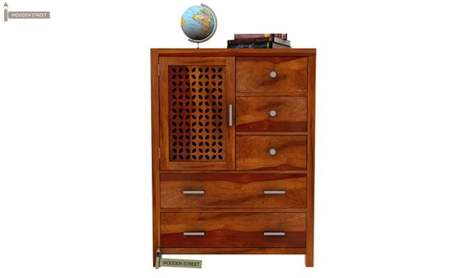 Ambien Chest of Drawers (Honey Finish)-2