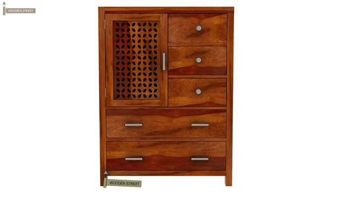 Ambien Chest of Drawers (Honey Finish)-4