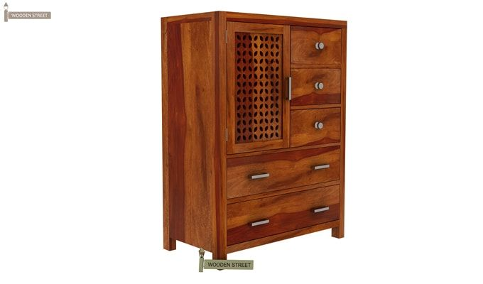 Ambien Chest of Drawers (Honey Finish)-5
