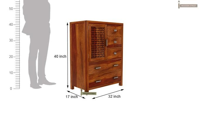Ambien Chest of Drawers (Honey Finish)-7