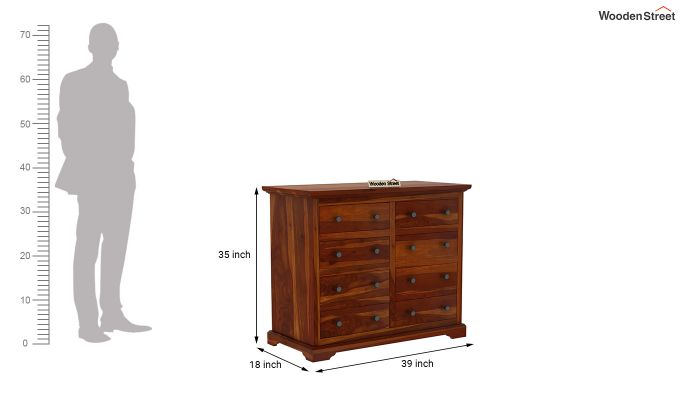 Angelo Chest of Drawers (Honey Finish)-6