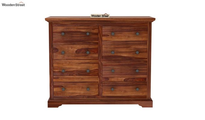 Angelo Chest of Drawers (Teak Finish)-4