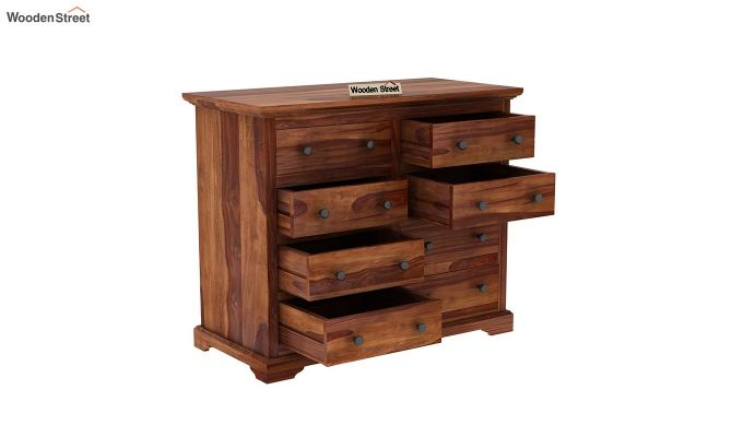 Angelo Chest of Drawers (Teak Finish)-5