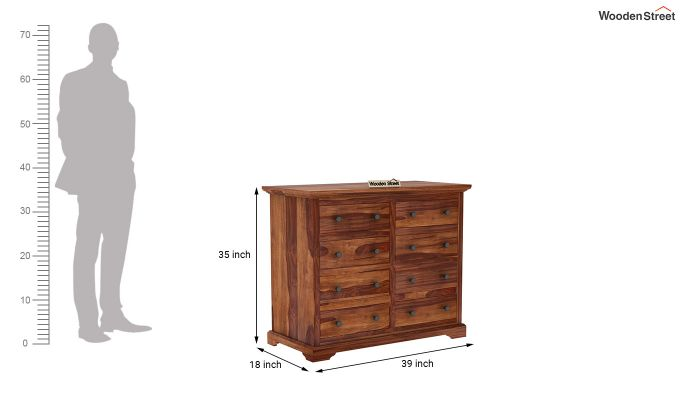 Angelo Chest of Drawers (Teak Finish)-6