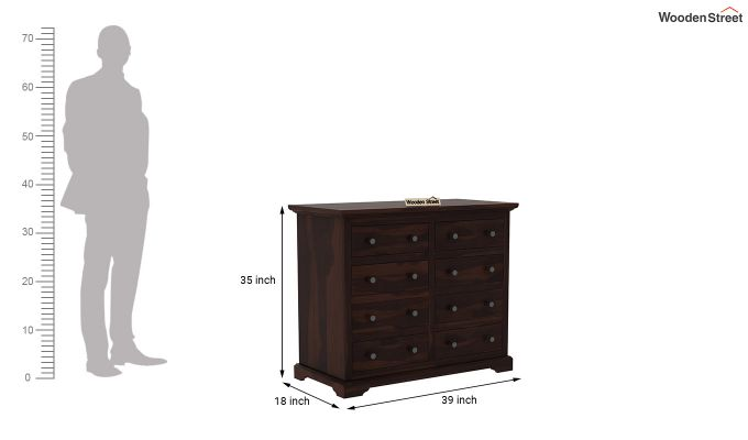 Angelo Chest of Drawers (Walnut Finish)-6