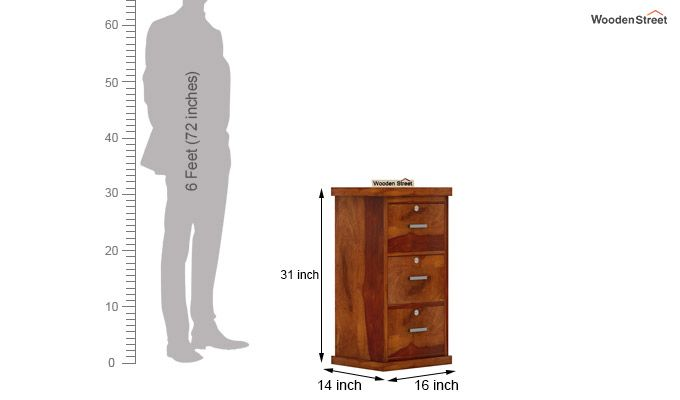 Austin Chest of Drawers (Honey Finish)-6