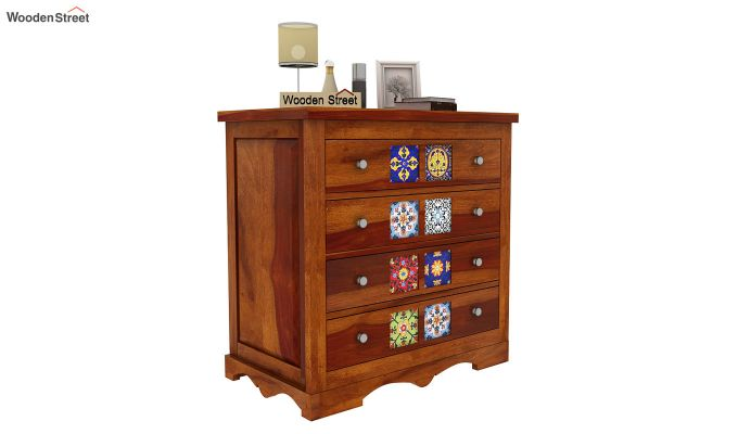 Boho Chest of Drawers (Honey Finish)-2