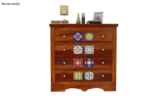 Boho Chest of Drawers (Honey Finish)-3