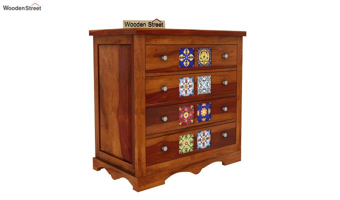 Boho Chest of Drawers (Honey Finish)-4
