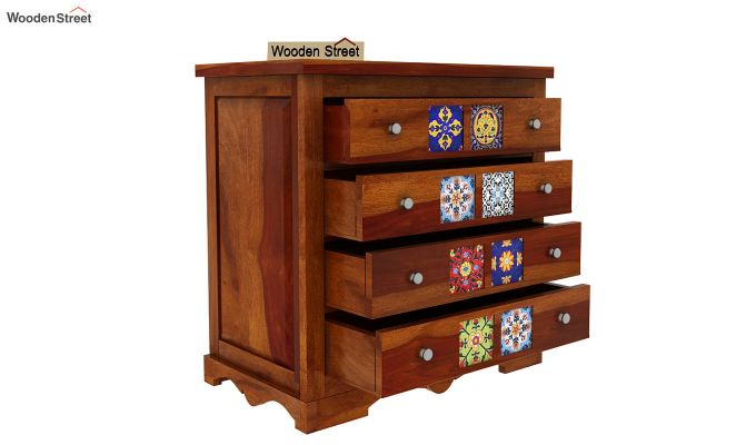 Boho Chest of Drawers (Honey Finish)-5