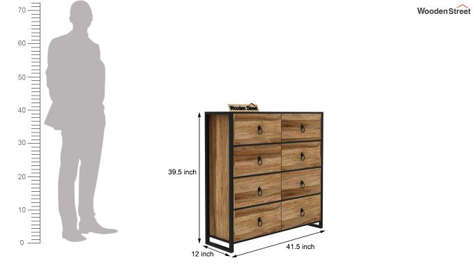 Bron Loft Chest of Drawers (Natural Finish)-5