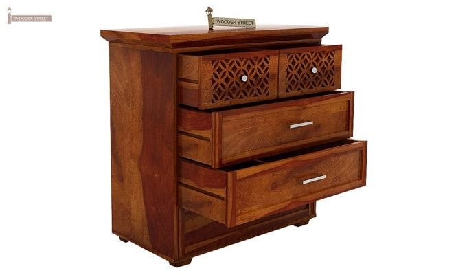 Cambrey Chest of Drawers (Honey Finish)-2