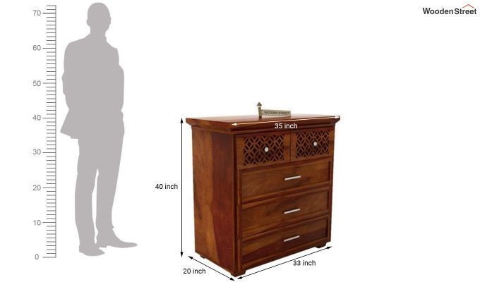Cambrey Chest of Drawers (Honey Finish)-6