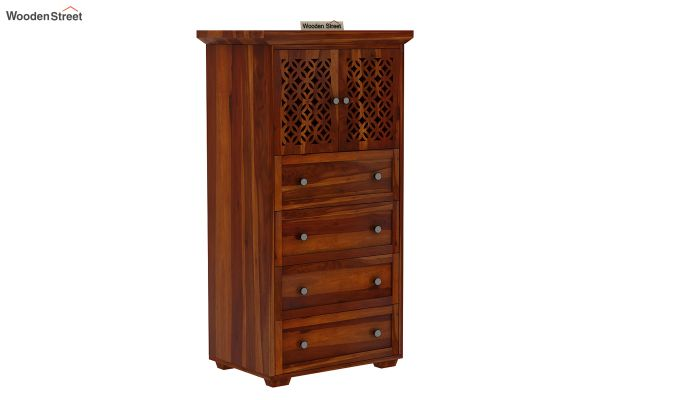 Cambrey Chest Of Four Drawer (Honey Finish)-2