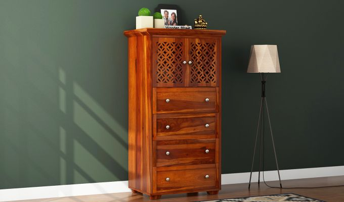 Cambrey Chest Of Four Drawer (Honey Finish)-1