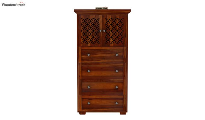 Cambrey Chest Of Four Drawer (Honey Finish)-3
