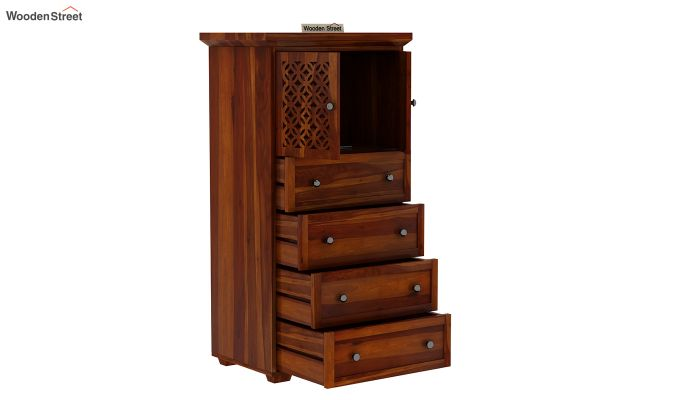 Cambrey Chest Of Four Drawer (Honey Finish)-5