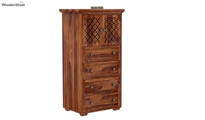 Cambrey Chest Of Four Drawer (Teak Finish)-1