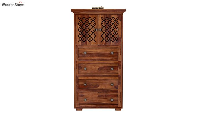 Cambrey Chest Of Four Drawer (Teak Finish)-2